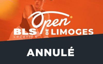 ANNULATION DE L'OPEN BLS DE LIMOGES 2020